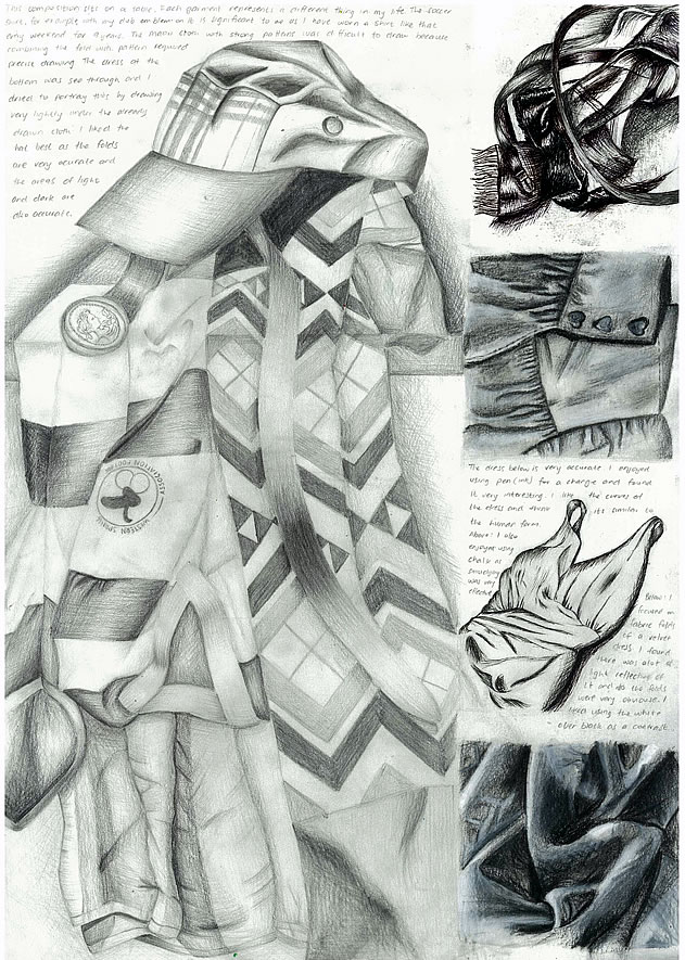 GCSE Art sketchbook page