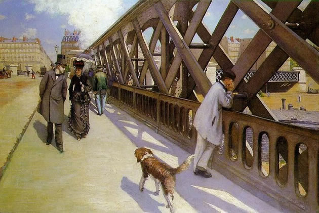 Gustave Caillebotte perspective painting