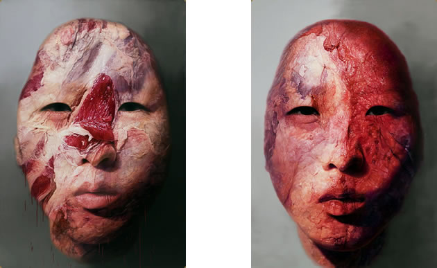 han hyo seok paintings of flesh