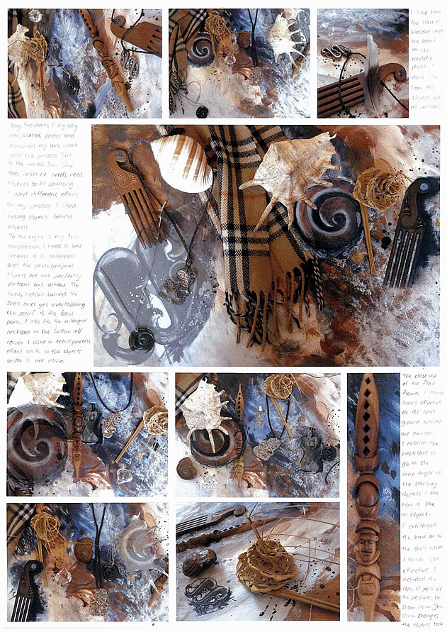 A Level Art Coursework  AS Painting Project   abstract instruments     Student Art Guide