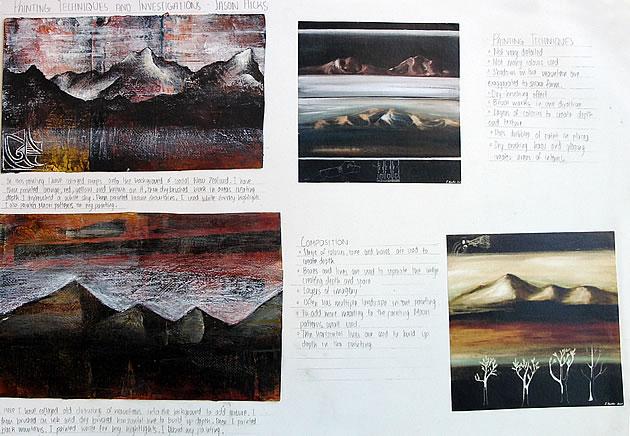 igcse art sketchbook - mixed media