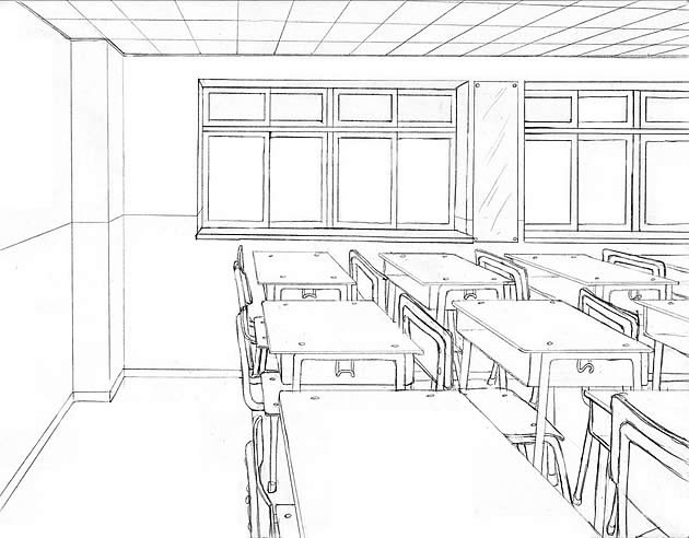 interior perspective - classroom setting