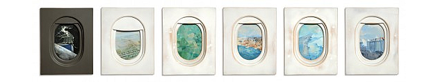 jim darling paintings of aeroplane windows