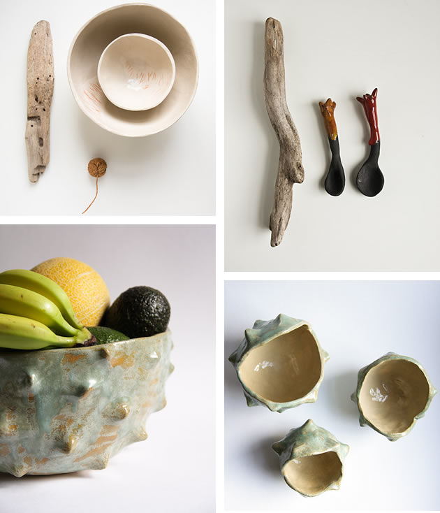 ceramic pieces by Karoart Etsy