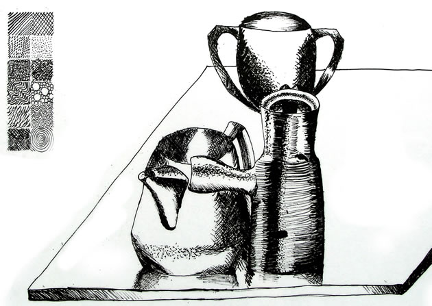 Ink Line Drawing Artists : Line drawing a guide for art students