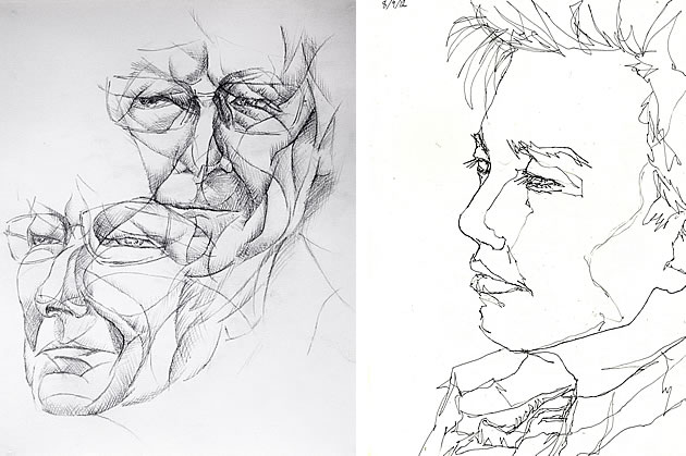 portraiture line drawings