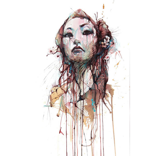 dripping portrait by carne griffiths