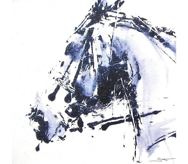 abstract horse drawing