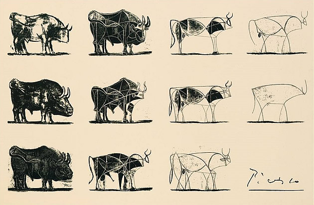 picasso bull drawings