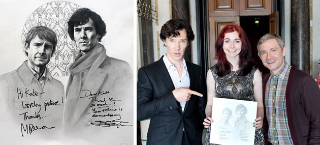 Benedict Cumberbatch and Martin Freeman drawing