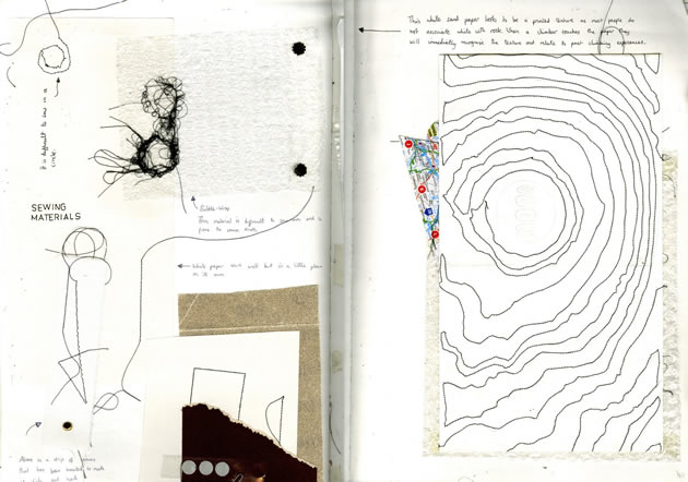 mixed media graphic design sketchbook - Graphic Design Project Ideas
