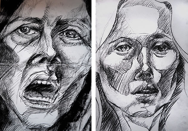 observational portraiture drawings