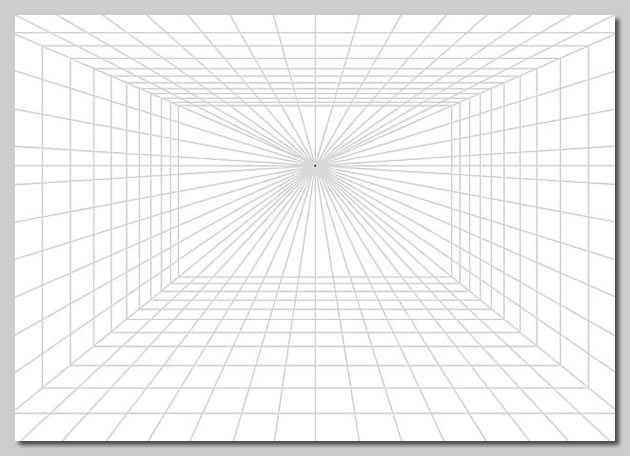 free one point perspective grid for printing