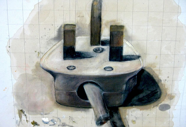 painting of a power plug