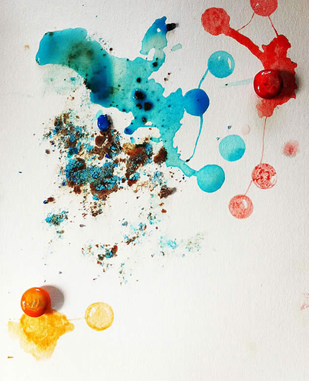 painting with food dye from lollies