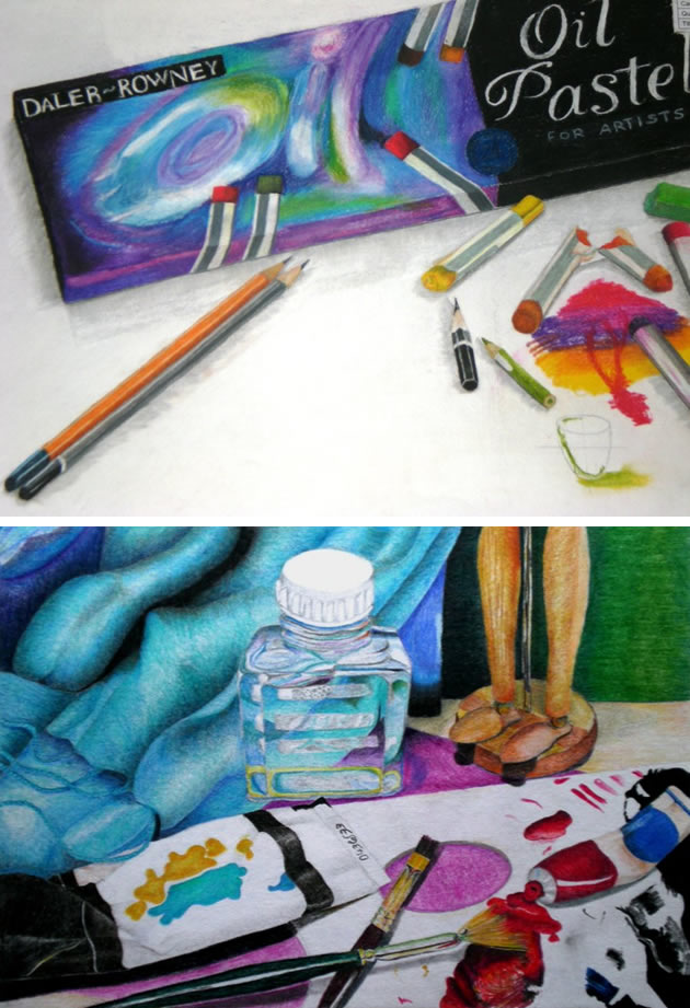 pastel IGCSE Art exam drawing