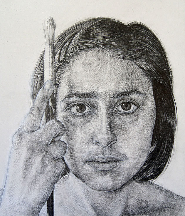 graphite pencil self portrait