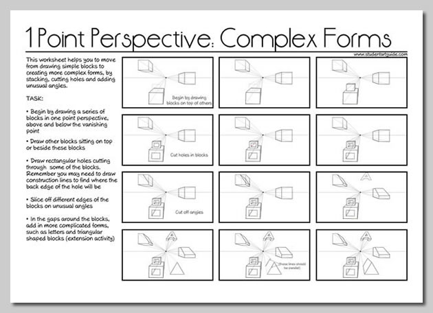 one point perspective lesson plan - how to draw perspective step by step