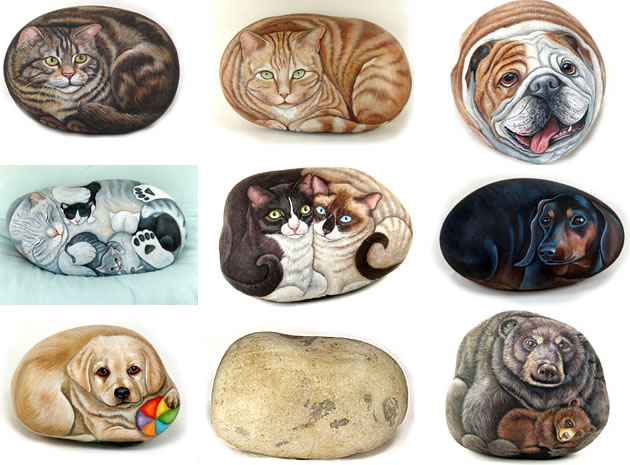 pet rock paintings
