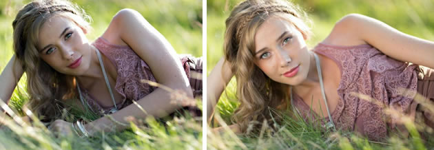 photography reflector before and after