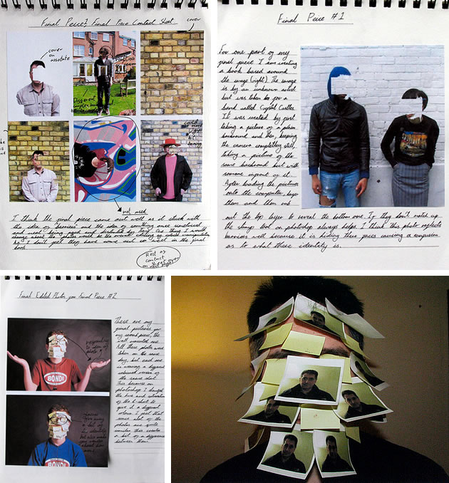 A Level photography sketchbook examples