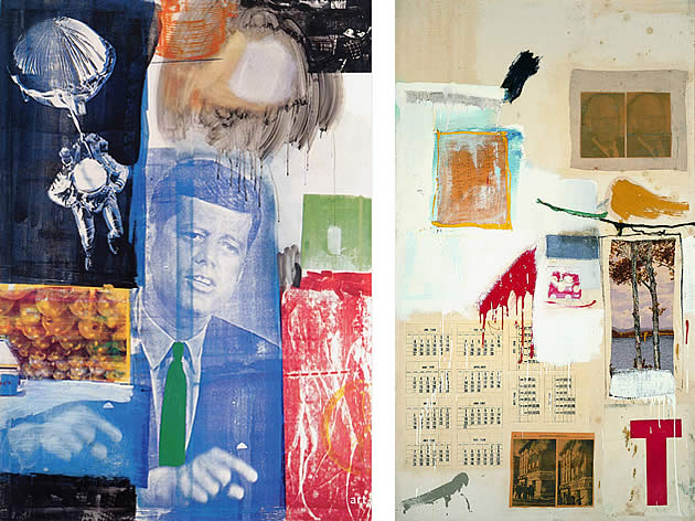 robert rauschenberg mixed media paintings