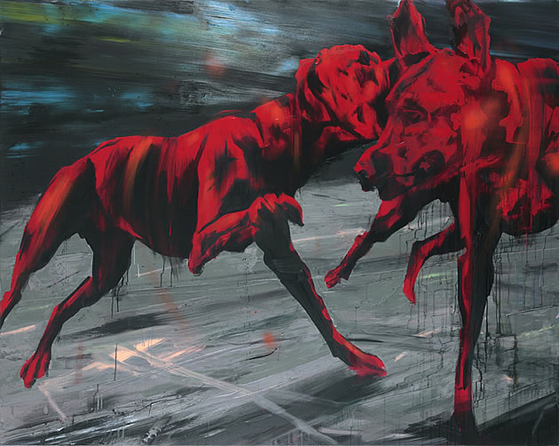 paintings of dogs by simon schrikker