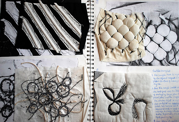 Textiles and fashion design sketchbooks 20 inspirational for Architecture textile