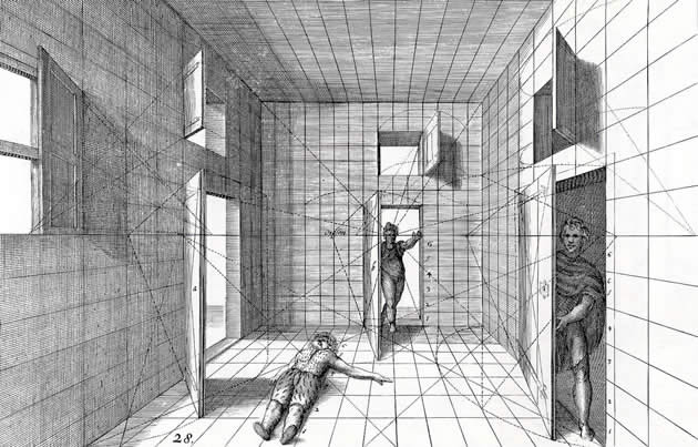 Perspective drawing by jans vredeman de vries