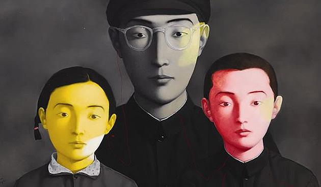 zhang xiaogang portraits