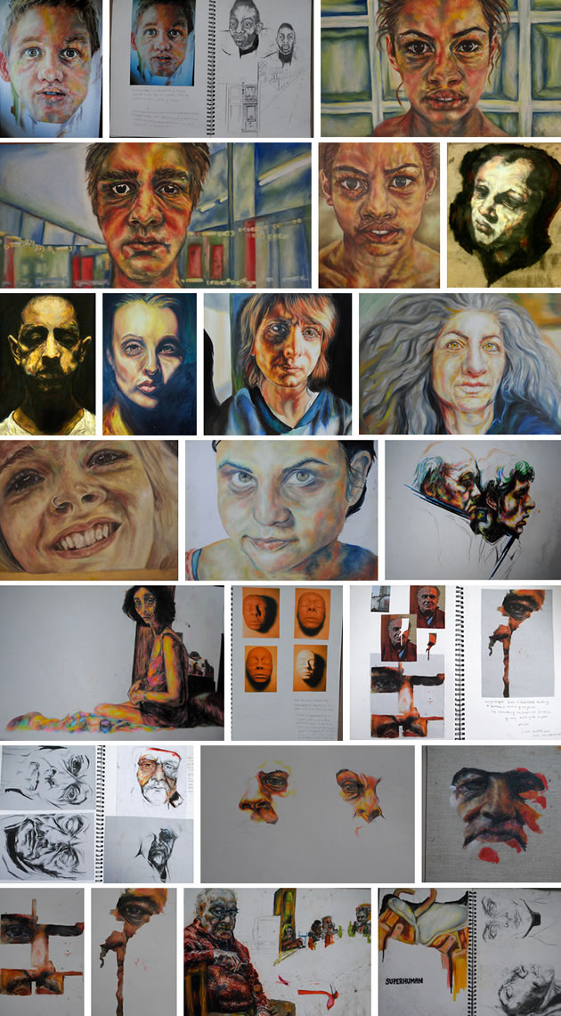 portraiture Art school portfolio