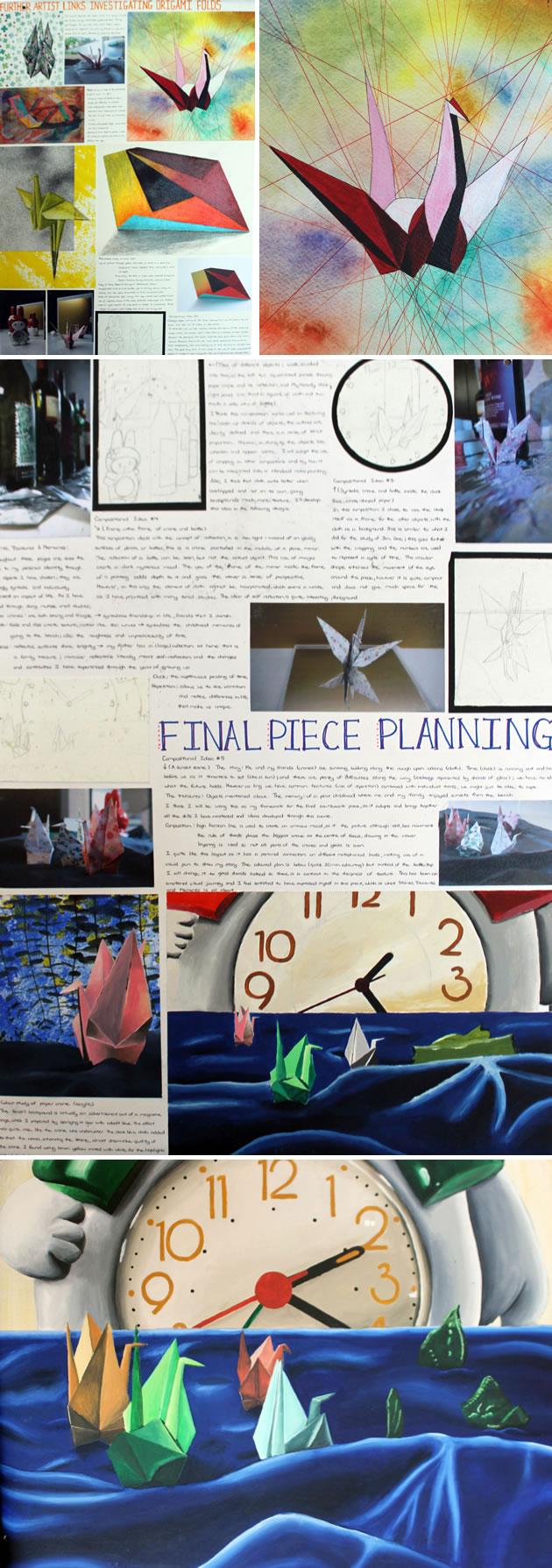 IGCSE final piece - paper cranes
