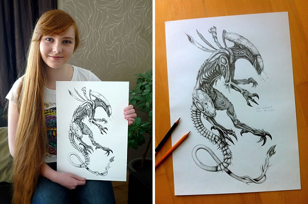 Alien drawing ideas art