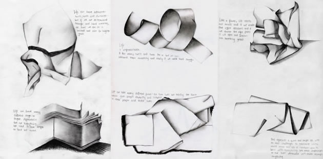 Great sub ideas - drawing folded paper