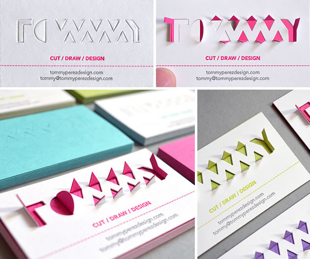 interactive business card design