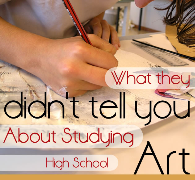 studying high school Art