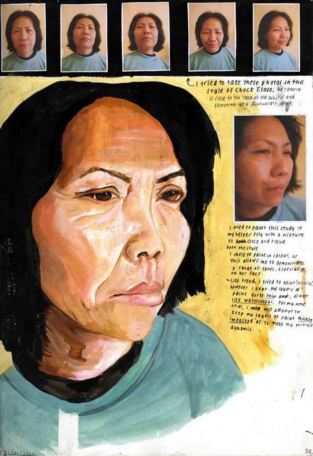 portraiture study: IB Art