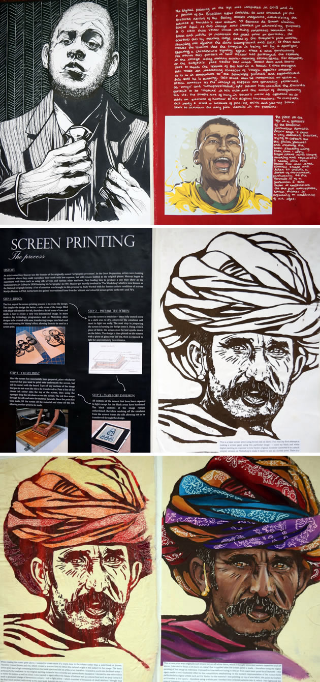 Printmaking and embroidery: A Level Art