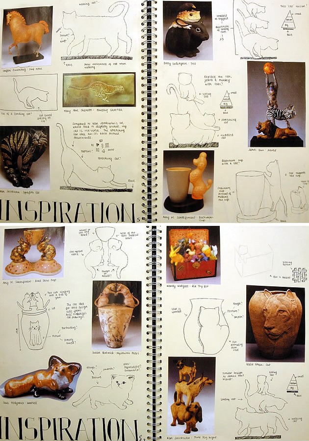A Level Ceramics sketchbook