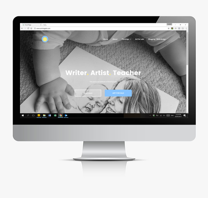 Artist website by Amiria Gale