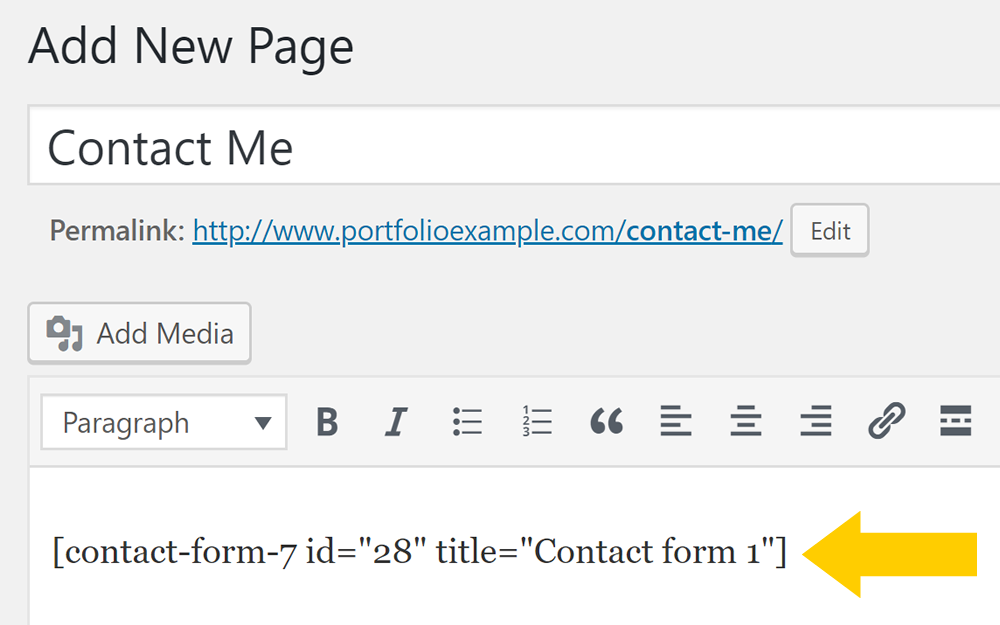 How to create a contact page using WordPress