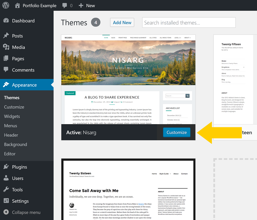 How to customize a WordPress theme