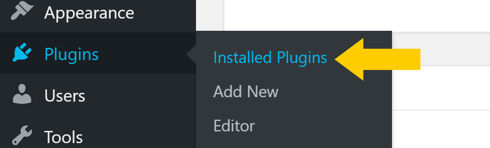 default WordPress plugins