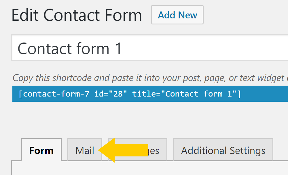 Mail contact form plugin