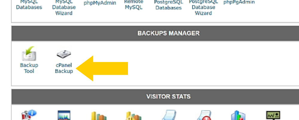 SiteGround cPanel backup