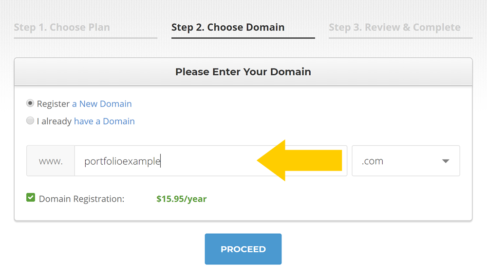 Choosing a SiteGround domain