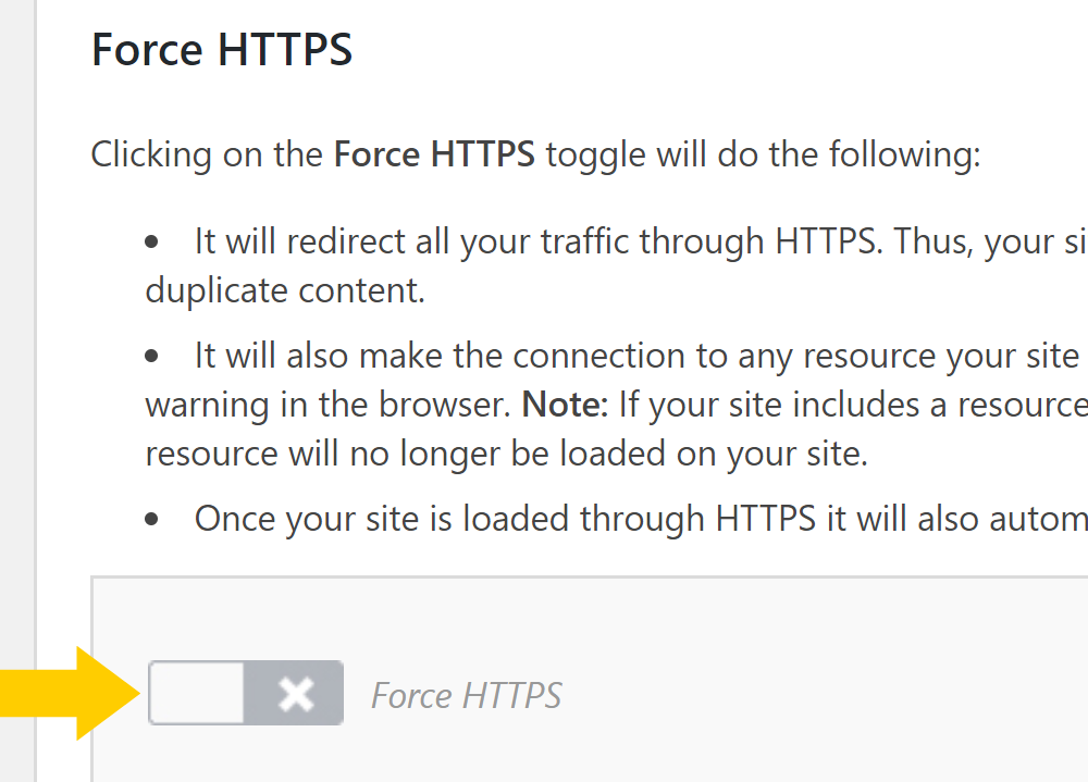 Using the SiteGround plugin to change to https