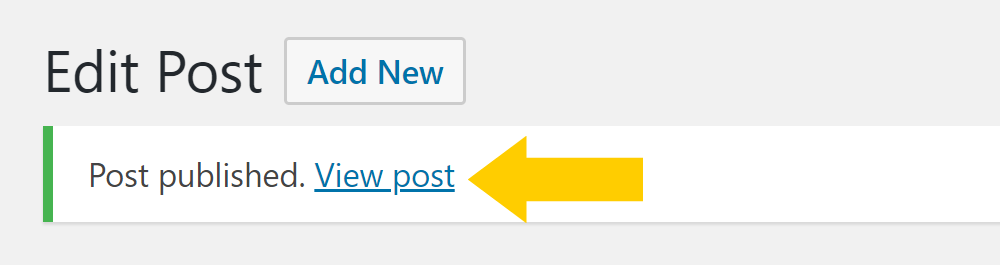View a WordPress post