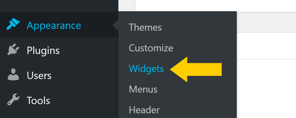Adding WordPress widgets
